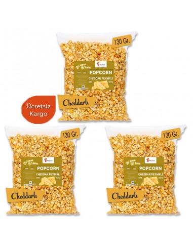 3 Pieces Cheddar Cheese Popcorn Set...