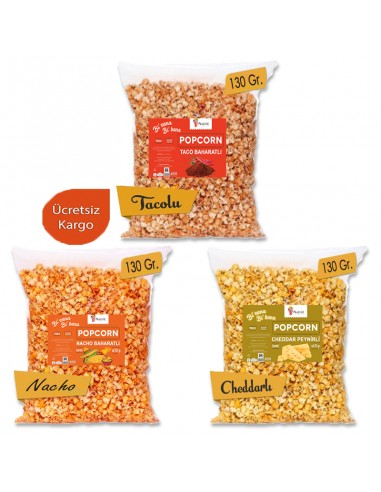 3 Pieces Mixed Spicy Popcorn Set 130...