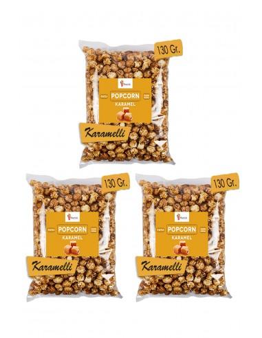 3 Pieces Caramel Popcorn Set 130gr. -...