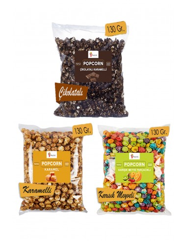 3 Pieces Mix Popcorn Set 130 Gr. -...